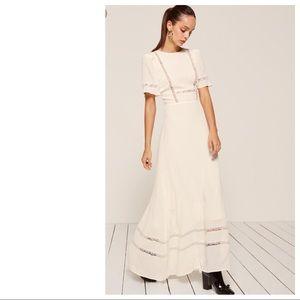 NWT Reformation Patchouli White Lace Maxi Dress